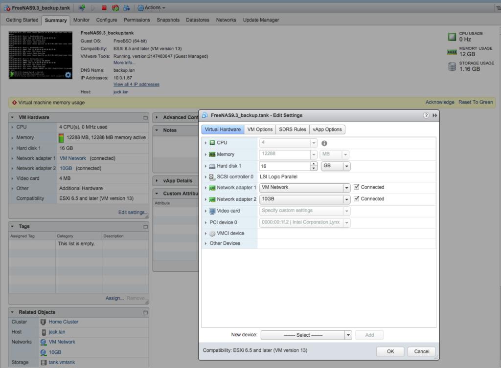 De-virtualizing and migrating FreeNAS